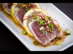 How to Make Tuna Tataki (Recipe) キハダ鮪のたたきの作り方(レシピ)
