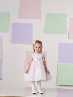 Perfect A-line organza short sleeve flower girl dress