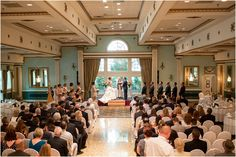 Wedding Ceremony in the Grand Ballroom | The Mendenhall Inn | Jaclyn and Robert
