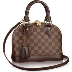Louis Vuitton Alma BB Damier Ebene Canvas Bag as seen on Pia Mia Perez