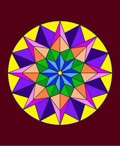 Mandalas coloreados fáciles - Mandalaweb Mandala Doodle, Mandala Art Lesson, Mandala Drawing, Mandala Painting, Barn Quilt Designs, Quilting Designs, Hamsa Art, Folk Art Flowers, Star Quilt Patterns