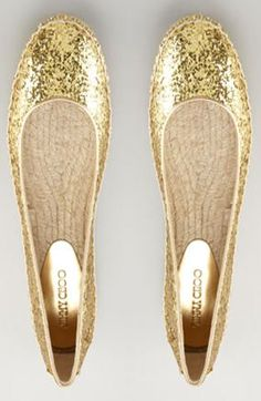 """glitter flats? yes, please! Already bought a pair for my """"reception shoes""""!"""
