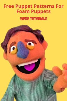 Ventriloquist Puppets, Professional Puppets, Puppets For Kids, Puppet Patterns, Sock Puppets, Puppet Crafts, Puppet Making, Simple Pattern, Ministry