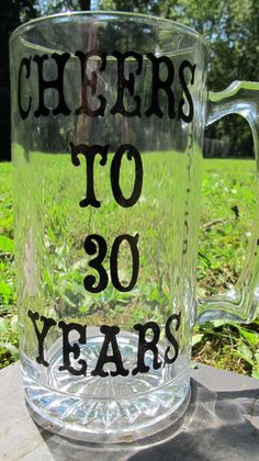Personalized 30th Birthday Beer Mug by JayniesCloset on Etsy, $25.00