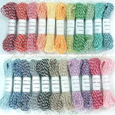 Baker's Twine - The Twinery - 75 yards - 5 Colors - You Choose. $8.10, via Etsy.
