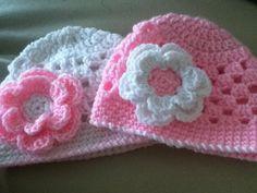 Crochet baby beanie for nb12m by CrochetFabNTutuHolic on Etsy, $13.50
