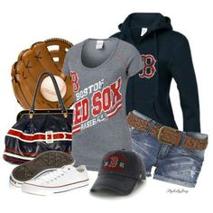 #Boston #RedSox This would be my favorite outfit.