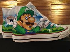 Shoe Art  Converse  Super Mario