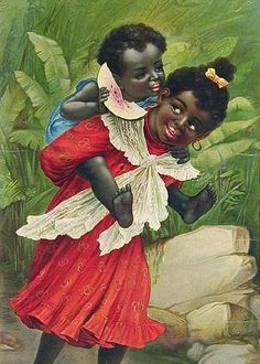 A painting of African-American children