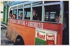 VINTAGE PHOTO / BUS AIBONITO / PUERTO RICO / REPRINT / 1940's - 50's