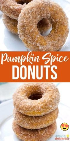 Donuts Beignets, Baked Doughnuts, Baked Churros, Donuts Donuts, Pumpkin Recipes, Fall Recipes, Baked Pumpkin Spice Donut Recipe, Fall Dessert Recipes, Dessert Food
