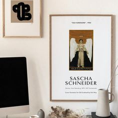 Fine Art Poster SASCHA SCHNEIDER Old Book Cover   Etsy Modern Gallery Wall, Modern Wall Decor, Printing Services, Online Printing, Illustration Art, Illustrations, Exhibition Poster, Print Store, Last Minute Gifts