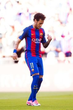 Neymar Santos Jr of FC Barcelona celebrates after scoring the opening goal during the La Liga match between FC Barcelona and Villarreal CF at Camp Nou stadium on May 2017 in Barcelona, Spain. Neymar 2017, Neymar Pic, Neymar Barcelona, Barcelona Soccer, Barcelona Spain, Neymar Football, Football Boys, Neymar Jr Wallpapers, Villarreal Cf