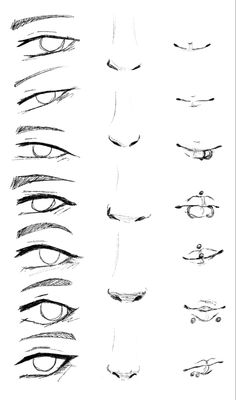 Face Drawing Reference, Nose Drawing, Art Reference Poses, Anime Eyes Drawing, Manga Drawing Books, How To Draw Anime Eyes, Anime Drawing Styles, Drawing Art, Body Drawing Tutorial