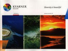Kvarner Region, Diversity is beautiful, Croatia Primorje-Gorski Kotar county Travel Brochure, Antique Books, World Traveler, Travel Destinations, Travel Tips, Nature Photos, All Over The World, Diversity, Croatia Travel