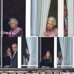 The Queen and family members before the Birthday celebrations June 12, 2016