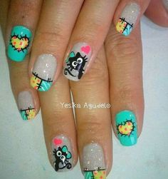 Uñas manu nail art design gallerynail designs for short nails easy full nail stickers nail appliques best nail stickers 2019 Nail Art Designs, Shellac Nail Designs, Gorgeous Nails, Love Nails, Pretty Nails, Ruby Nails, Nails Polish, Nails For Kids, Latest Nail Art