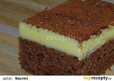 Rychlořezy s jogurtovopudinkovým krémem recept - TopRecepty.cz Sweet Cakes, Tiramisu, Health, Ethnic Recipes, Desserts, Food, Pasta, Tailgate Desserts, Deserts