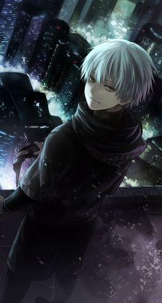   Tokyo Ghoul   fuck i h8 it when he repeatedly smiles like that in root a (and that part of the manga ya know) when he just SADLY SMILES IT MAKES ME WANT TO idek just im happy he smiles genuinely now :)))))
