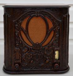 "Vtg 1930 Crosley ""Buddy Boy"" Model 54 Repwood Cabinet Tombstone Tube Radio | eBay"