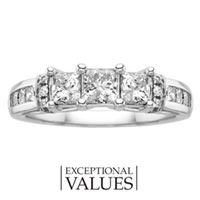 1 1/2 ct. tw. Diamond Three Stone Anniversary Ring
