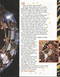 "American Girl Magazine - January 1993/February 1993 Issue - Page 26 (Part 2 of the American Girl Magazine Article ""Purrfect Skating"")"