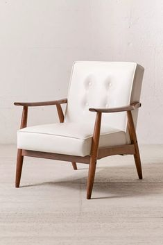 Shop Wyatt Faux Leather Arm Chair at Urban Outfitters today. We carry all the latest styles, colors and brands for you to choose from right here. Retro Armchair, Mid Century Modern Armchair, Faux Leather Sofa, Leather Furniture, Leather Chairs, Leather Recliner, Pu Leather, Brown Leather, Contemporary Dining Chairs