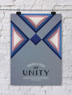 Beautiful Handcrafted Posters on the Principles of Design