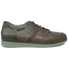 Zapato deportivo en marrón de ancho especial y con plantilla extraible de Mobils de Mephisto vista lateral