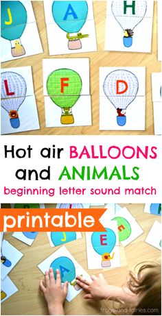With cute animals and colorful hot air balloons!