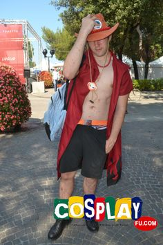 Portgas D. Ace Cosplay from One Piece in RIMINI COMIX 2013 IT