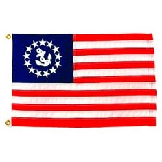 Nyl-Glo U.S. Yacht Ensign Flag-Assorted Sizes http://www.pacificcoastflag.com/product-type/sports-recreation-leisure-boating-fishing-auto-racing/nyl-glo-u-s-yacht-ensign-flag.html