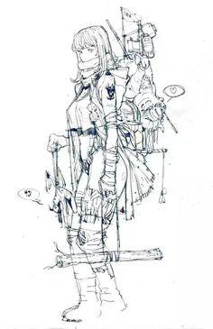 插画师 Kim Il Kwang 插画线稿和作品