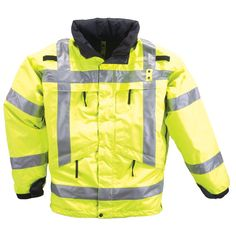 5.11 Tactical #48033 3-in-1 High Visibility Reflective Parka (Reflective Yellow, Large)