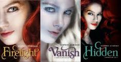 Sophie Jordan's Firelight series. YA paranormal. Dragon shape-shifter falls in love with the hunter that wants to kill her.