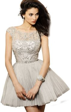 Amazon.com: 2013 Sexy A-Line/Princess Bateau Short/Mini Crystal/Beading Cocktail Dress: Clothing