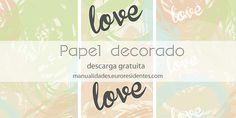 Scrapbook paper, free printable. Papel decorado para imprimir gratis http://manualidades.euroresidentes.com/2014/05/papel-decorado-estampados-pastel.html