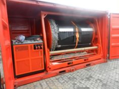 Rubber inflatable boom from Haomei eEnvironmental Oil Spill, Technology, Tech, Tecnologia