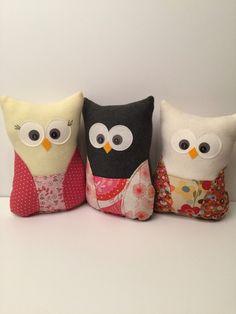 Plush owl pillow, stuffed owl, fleece, soft, owl toy, stuffy, owl, pillow, nursery, baby shower