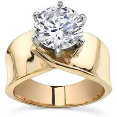 ring diamonds graduated sides with band | Wide Band Asha Solitaire Ring [sol230] - $640.00 : Asha Diamonds ...