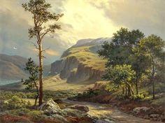 Горный пейзаж репродукция картины М.А.Сатарова