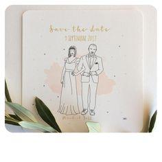 """Et un """"Save the Date"""" en plus! #mariage #wedding #fairepartmariage #weddingcard #weddinginvitation #savethedate #illustration #lpmdc #rennes"""