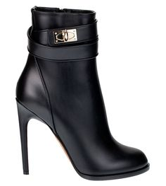 Givenchy Shark lock high heel ankle boots - Heels and Pumps Black High Heels, Black Ankle Boots, High Heel Boots, Heeled Boots, Bootie Boots, Shoe Boots, Ankle Booties, Women's Boots, Hot Shoes