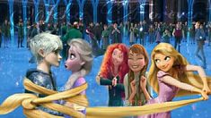 The girls ship Jack and Elsa aawwww