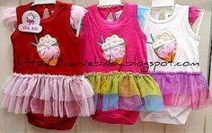 Girl Strawberry Tutu Romper  Item Code: BR0035S Item Size: All Size Item Color: Red, Pink, White Age: 6-18 months  Price: $12.50