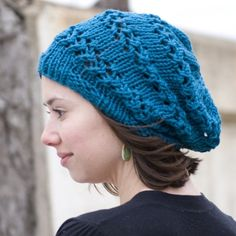 Slouchy Lace Beret Tam hat  Lacy Caterpillar by tanzarelle on Etsy, $30.00