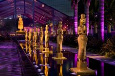 Plenty of gilded and towering Asian-inspired objects decked HBO's Thai-flavored party.