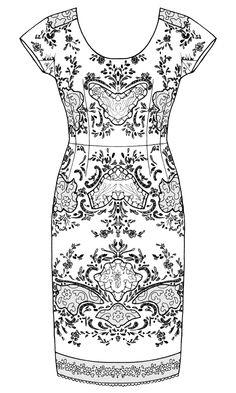 technical drawings - lacework 2012 by Rebecca Pottkaemper, via Behance