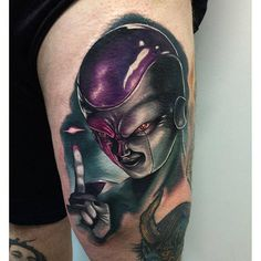 Frieza tattoo done by Audie Fulfer jr.