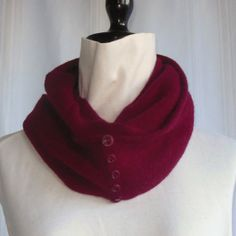 Infinity Cashmere Wool Scarf made from an by FoxIslandFancywork, $45.00